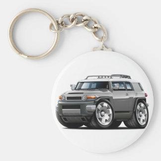 Fj Cruiser Grey Car Basic Round Button Keychain