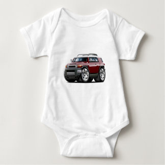 Fj Cruiser Maroon Car Baby Bodysuit