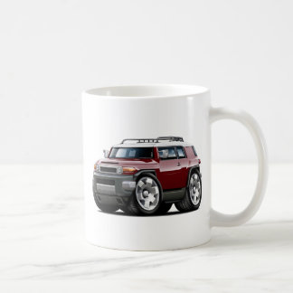 Fj Cruiser Maroon Car Classic White Coffee Mug