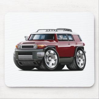 Fj Cruiser Maroon Car Mouse Pad