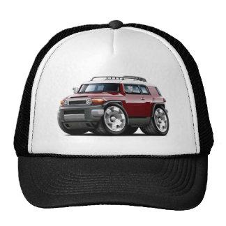 Fj Cruiser Maroon Car Trucker Hat