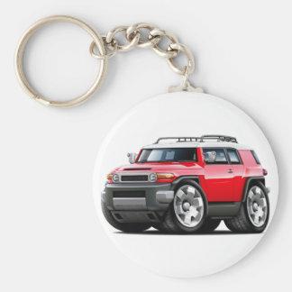 Fj Cruiser Red Car Keychain