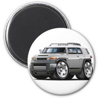 Fj Cruiser Silver Car 2 Inch Round Magnet