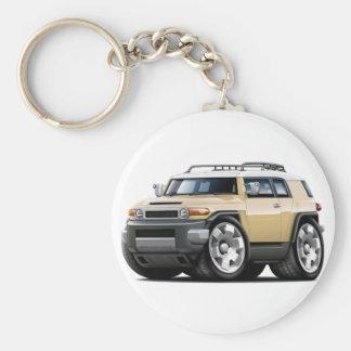 Fj Cruiser Tan Car Basic Round Button Keychain