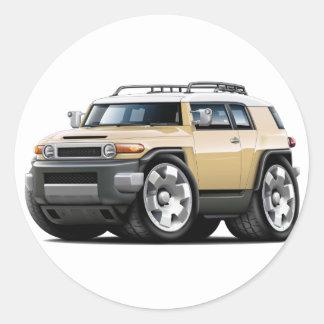Fj Cruiser Tan Car Classic Round Sticker