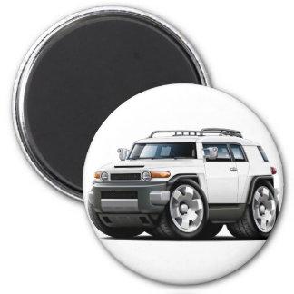 Fj Cruiser White Car 2 Inch Round Magnet