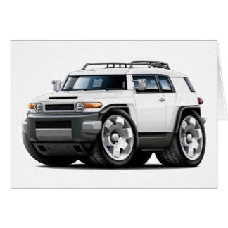 Fj Cruiser White Car Card
