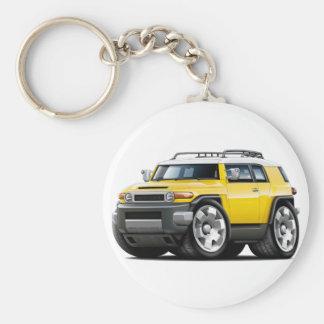 Fj Cruiser Yellow Car Basic Round Button Keychain