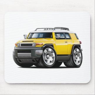 Fj Cruiser Yellow Car Mouse Pad
