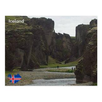 Fjaðrárgljúfur, Islandia suroriental Tarjeta Postal
