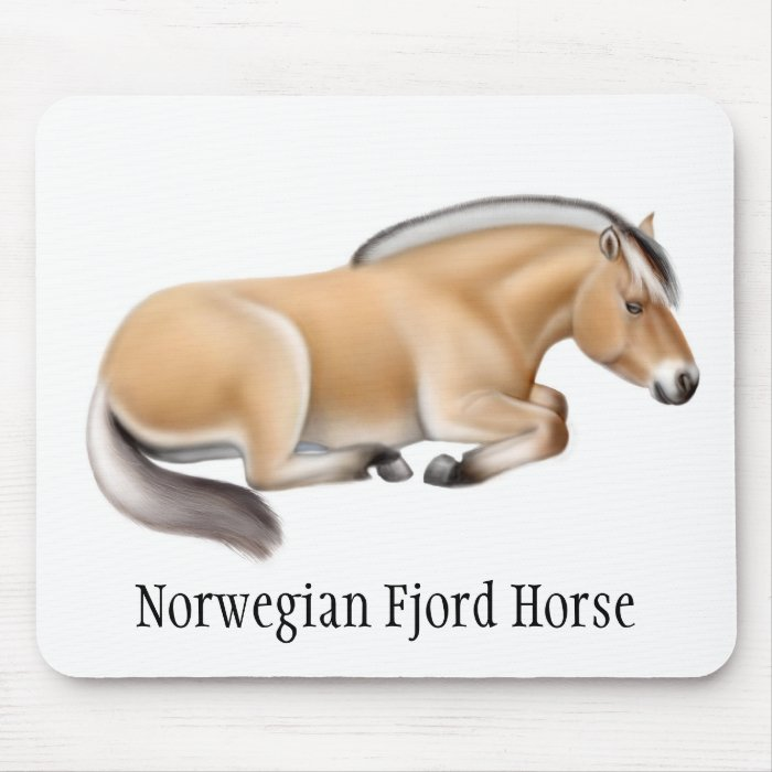 Fjord Horse at Rest Mouse Pad
