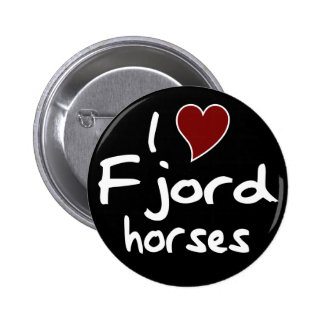 Fjord horses 2 inch round button