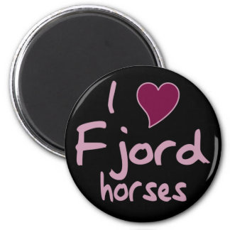 Fjord horses 2 inch round magnet