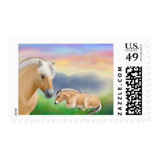 Fjord Horses at Rest Postage
