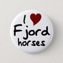 Fjord horses pinback button