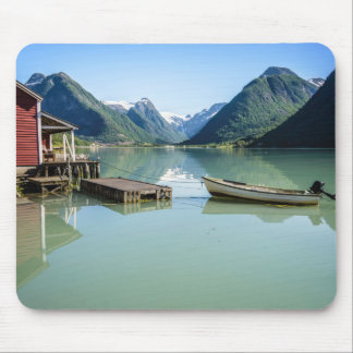 Fjord landscape in Norway mousepad