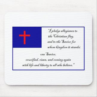 Fkag cristiano y compromiso a la bandera cristiana alfombrillas de ratón