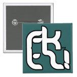 ¡fktz! botón del logotipo pins