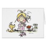 FL-001 Girl Waving Card