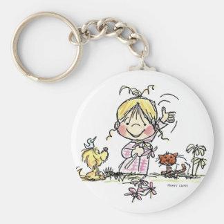 FL-001 Girl Waving Keychain