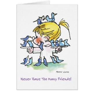 FL-005 Birdy Love Greeting Card