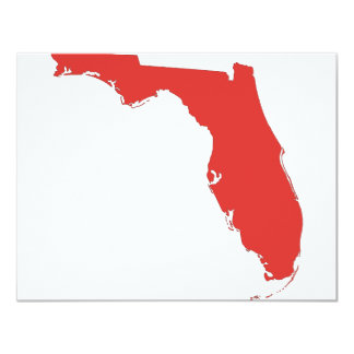 FL a RED State 4.25x5.5 Paper Invitation Card