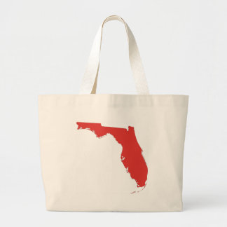 FL a RED State Large Tote Bag