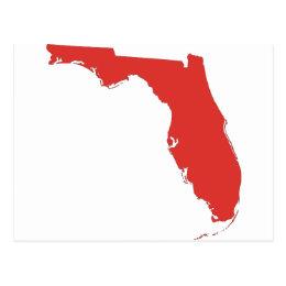 FL a RED State Postcard