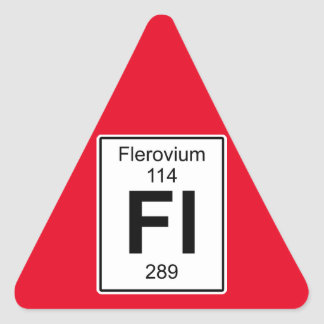 Fl - Flerovium Triangle Sticker