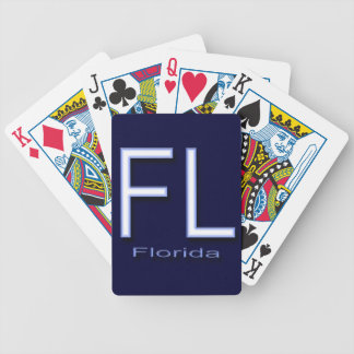 FL Florida  blue Bicycle Playing Cards