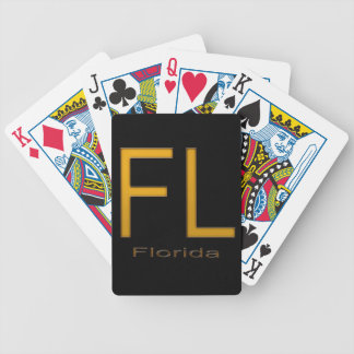 FL Florida  gold Bicycle Playing Cards