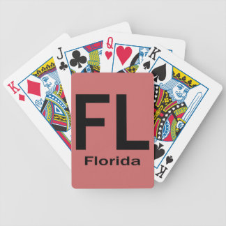 FL Florida  plain black Bicycle Playing Cards