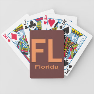 FL Florida  plain orange Bicycle Playing Cards