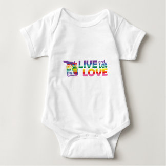 FL Live Let Love Baby Bodysuit