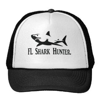 Fl shark hunter Xl shirt black and white Trucker Hat
