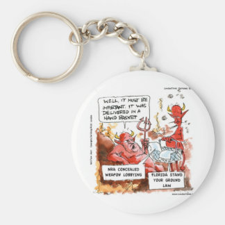 Fl Stand Your Ground Law In Hell Funny Gifts & Tee Keychain