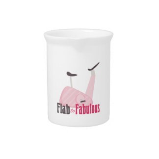 Flab To Fabulous Beverage Pitcher