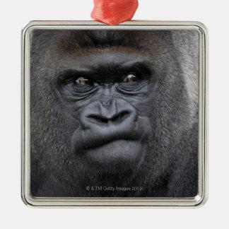 Flachlandgorilla, Gorilla gorilla, Metal Ornament