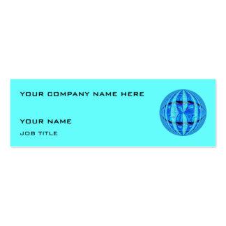 Flaco azul azul de la tarjeta de visita del orbe