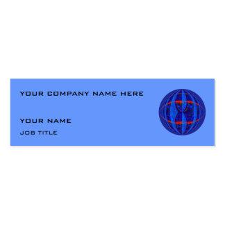 Flaco azul azul marino de la tarjeta de visita del