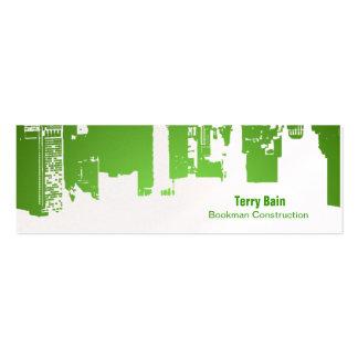 Flaco horizontal de la parte superior de la pendie tarjeta de visita