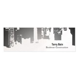 Flaco horizontal de la parte superior de la pendie plantilla de tarjeta de negocio
