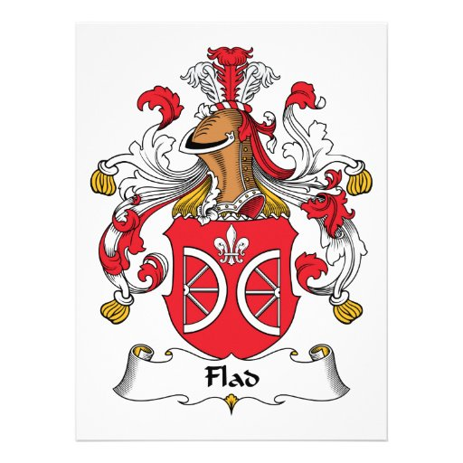 Flad Family Crest Custom Invitation