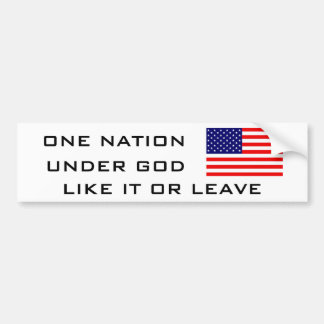 FLAG2, UNA NACIÓN, DEBAJO DE DIOS, COMO ÉL O LICEN PEGATINA PARA AUTO