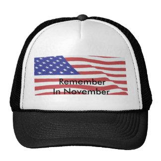 flag3, RememberIn noviembre Gorras De Camionero