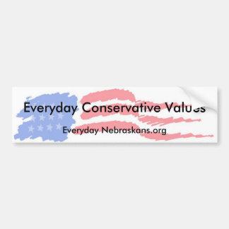 flag4, valores conservadores diarios, N diaria… Pegatina Para Auto