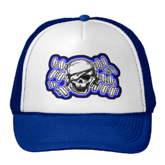 flag5pirate3art22 trucker hat