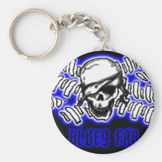 flag5pirate3art2, BLUEYFAB SMALL Keychain