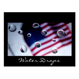 flag 1 jpg, Water Drops Postcard