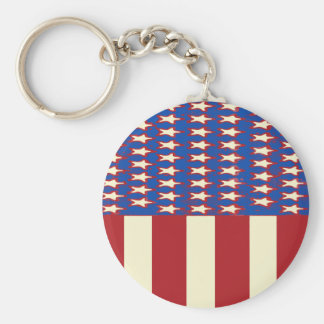 flag 2017 Celebrate the 4th of July Keychain